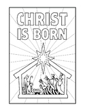 NATIVITY COLORING, BUNDLE 8 PAGES, CHRISTMAS ACTIVITIES, HOLIDAY ACTIVITIES