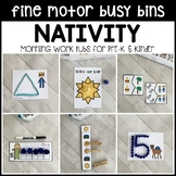 NATIVITY Fine Motor Busy Bins (Christmas morning work tubs) - Preschool, Pre-K