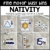 NATIVITY Fine Motor Busy Bins (Christmas morning work tubs