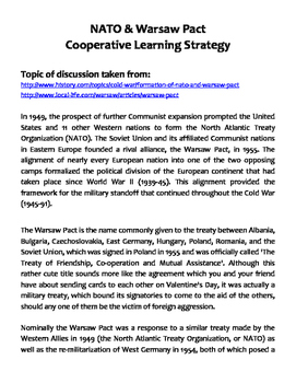NATO & Warsaw Pact Cooperative Learning Strategy