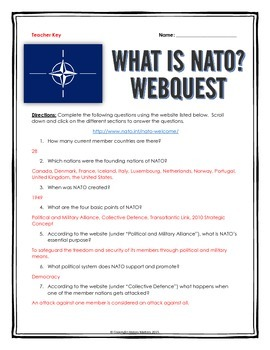 NATO - Webquest with Key (What is NATO?)
