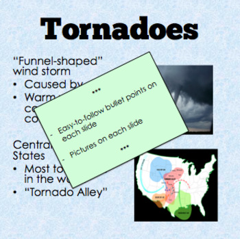 NATURAL DISASTERS – PowerPoint + Review Questions + Handout