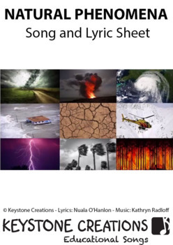 MP3 ~ SING & LEARN about natural occurrences (hurricanes...) & their impact