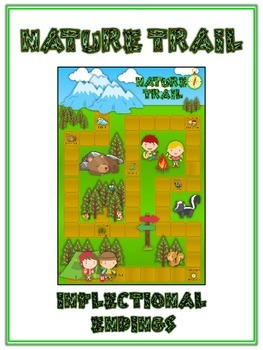 NATURE TRAIL Inflectional Word Endings - ELA First Grade Game - Word Work Center