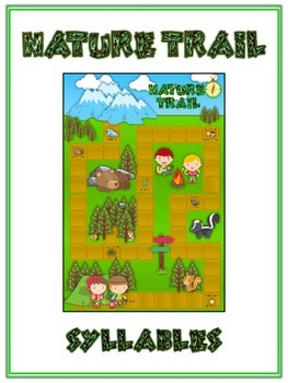 NATURE TRAIL Syllables - ELA First Grade Folder Game - Word Work Center