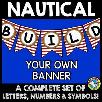 NAUTICAL BULLETIN BOARD LETTERS (NAUTICAL THEME CLASSROOM DECOR BANNERS)