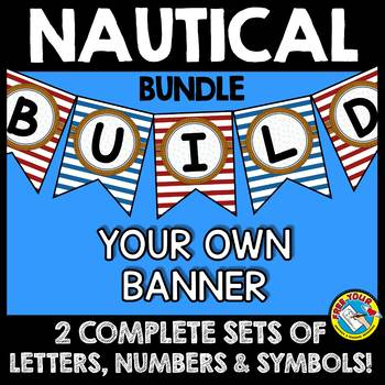 NAUTICAL BULLETIN BOARD LETTERS BUNDLE (NAUTICAL THEME CLASSROOM DECOR BANNERS)