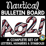 NAUTICAL CLASSROOM DECOR (BLUE AND RED NAUTICAL BULLETIN B