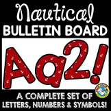 NAUTICAL CLASSROOM DECOR (RED NAUTICAL BULLETIN BOARD LETT