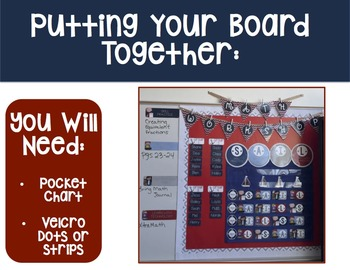 NAUTICAL Guided Math Rotation Board