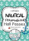 NAUTICAL Hall Passes Lanyards {EDITABLE}