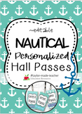 NAUTICAL Hall Passes Lanyards {EDITABLE}
