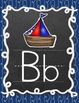 NAUTICAL SAILING THEMED PRINT ALPHABET POSTERS