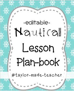 NAUTICAL Teacher Planner 2018-2019 {Editable}