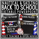 Nautical Classroom Theme Back To School Night Meet The Teacher Template Editable