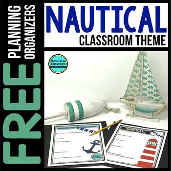 NAUTICAL Theme Decor Planner by Clutter Free Classroom