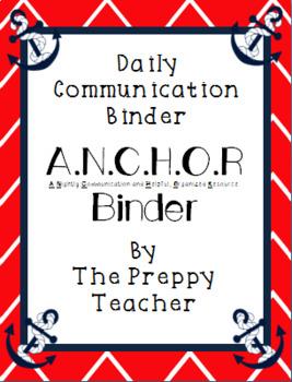NAUTICAL Themed Communication Binder Set