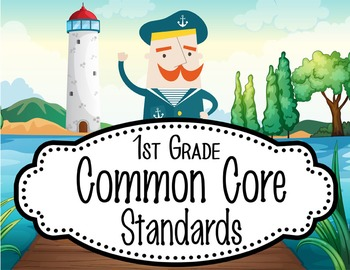 """NAUTICAL lime - 1st Grade Common Core Standards """"I CAN"""" fo"""
