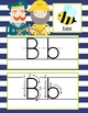 NAUTICAL lime - Alphabet Cards, Handwriting, Cards, ABC print with pictures