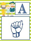 NAUTICAL lime - Alphabet Flag Banner, SIGN LANGUAGE