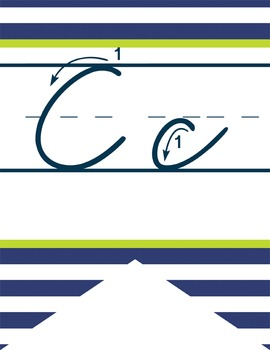 NAUTICAL lime - Alphabet Flag Banner, handwriting, A to Z, cursive font