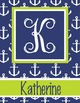 NAUTICAL lime - Binder Covers, EDITABLE so you can personalize