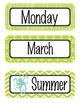 NAUTICAL lime - Calendar Set