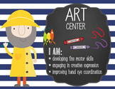 NAUTICAL lime - Classroom Decor: Center Signs, student cards