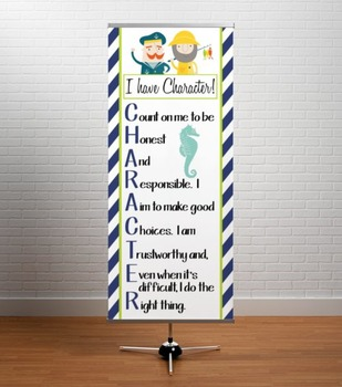 NAUTICAL lime - Classroom Decor: LARGE BANNER, CHARACTER