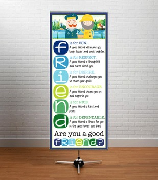 NAUTICAL lime - Classroom Decor: LARGE BANNER, FRIENDS