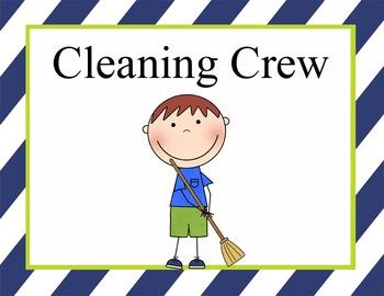 NAUTICAL lime - Classroom Helpers JOBS clip chart