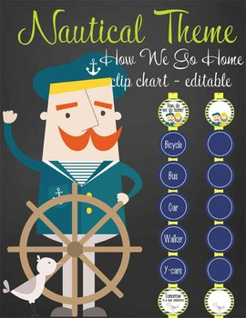 NAUTICAL lime - Clip Chart, HOW WE GO HOME, EDITABLE