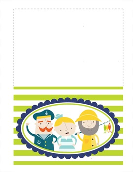 NAUTICAL lime - Stationery and Note Cards / MS Word, editable