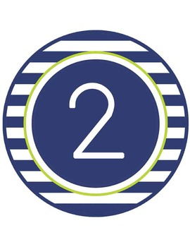 NAUTICAL lime - TABLE NUMBERS and CIRCLE DECOR