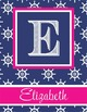 NAUTICAL pink - Binder Covers, EDITABLE so you can personalize