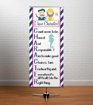 NAUTICAL pink - Classroom Decor: LARGE BANNER, CHARACTER