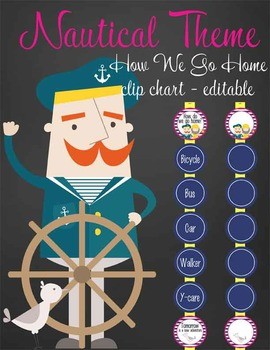 NAUTICAL pink - Clip Chart , HOW WE GO HOME, EDITABLE