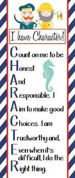 NAUTICAL red - Classroom Decor: LARGE BANNER, CHARACTER