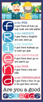 NAUTICAL red - Classroom Decor: LARGE BANNER, FRIENDS