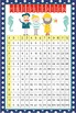 NAUTICAL red - Classroom Decor: Multiplication POSTER - size 24 x 36