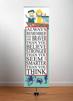 NAUTICAL red - Classroom Decor: X-LARGE BANNER, Always Remember