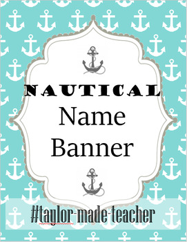 NAUTICAL word/name Banner {Editable PPT Template}