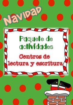 NAVIDAD: Centros de Lectura y Escritura / CHRISTMAS Packet NO PREP
