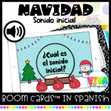 Sonido inicial | Christmas Initial Sounds Boom Cards™ in Spanish