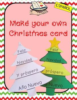 NAVIDAD make your own christmas tree card