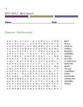 NAVY SEALS  Word Search
