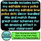 NAVY and LIME Polka Dots Classroom Decor Bundle EDITABLE