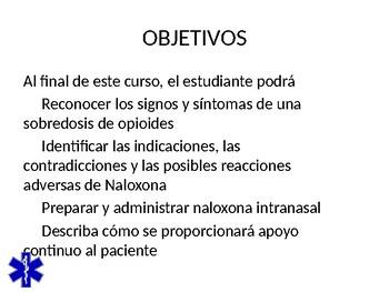 NAXOLONE FOR OPIOID OVERDOSE SPANISH PPT TRAINING PRESENTATION