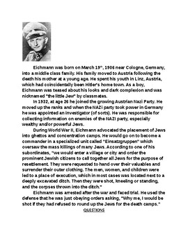 NAZI Leaders Biography Activity