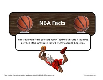 NBA Basketball Facts Online Web Search